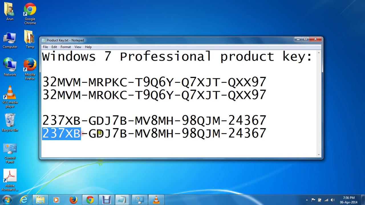Windows 7 Professional Product Key Generator + Crack Free Download
